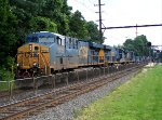 CSX 5426, 3078,5267 on detour intermodal train R003